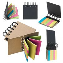 Sticky Post Note Ring Binder Book with Index Tabs